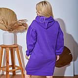 Женское Платье-Туника на флисе Батал, фото 5