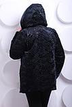 Полушубок женский из эко-меха под каракуль - 214 черный, фото 2
