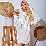 Женское Платье-Туника на флисе Батал, фото 10