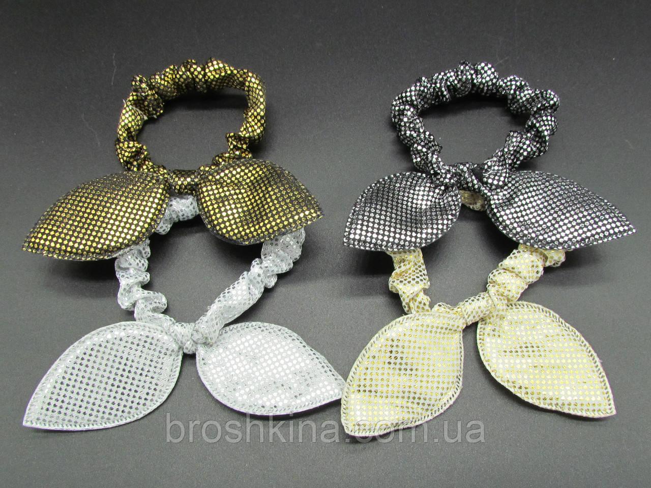 Резинки для волос Солошки 20 шт/уп. текстиль с напылением