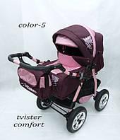 Коляска Tvister Comfort бордо розовый