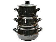 Набор эмалированной посуды Interos Bon appetit 3 предмета (2234А)