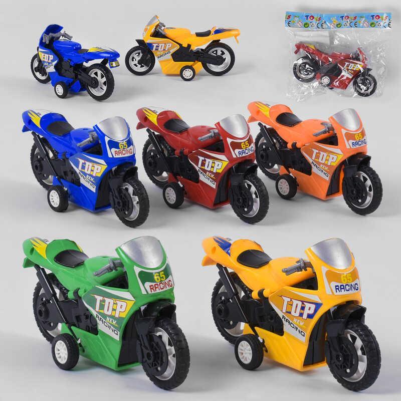 Мотоцикл 338 (480) 1шт в кульке, 5 цветов