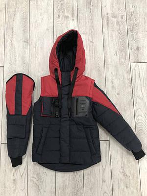 Куртка жилетку на хлопчика розмір 34-42 Червоний