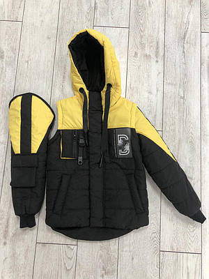 Куртка жилетку на хлопчика розмір 34-42 Жовтий