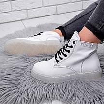 Белые ботинки женские демисезонные классические, фото 2