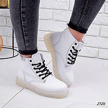 Белые ботинки женские демисезонные классические, фото 3
