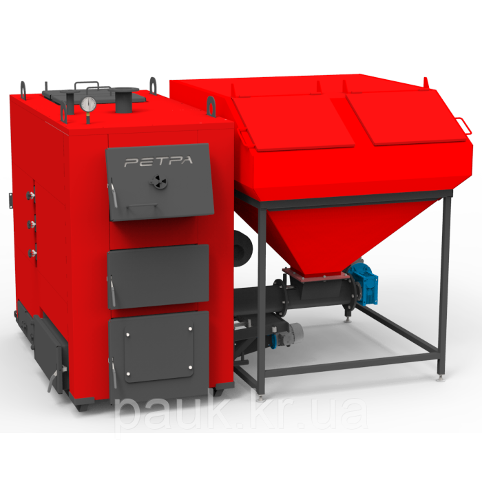 Пеллетный промышленный котел 300 кВт РЕТРА-4М