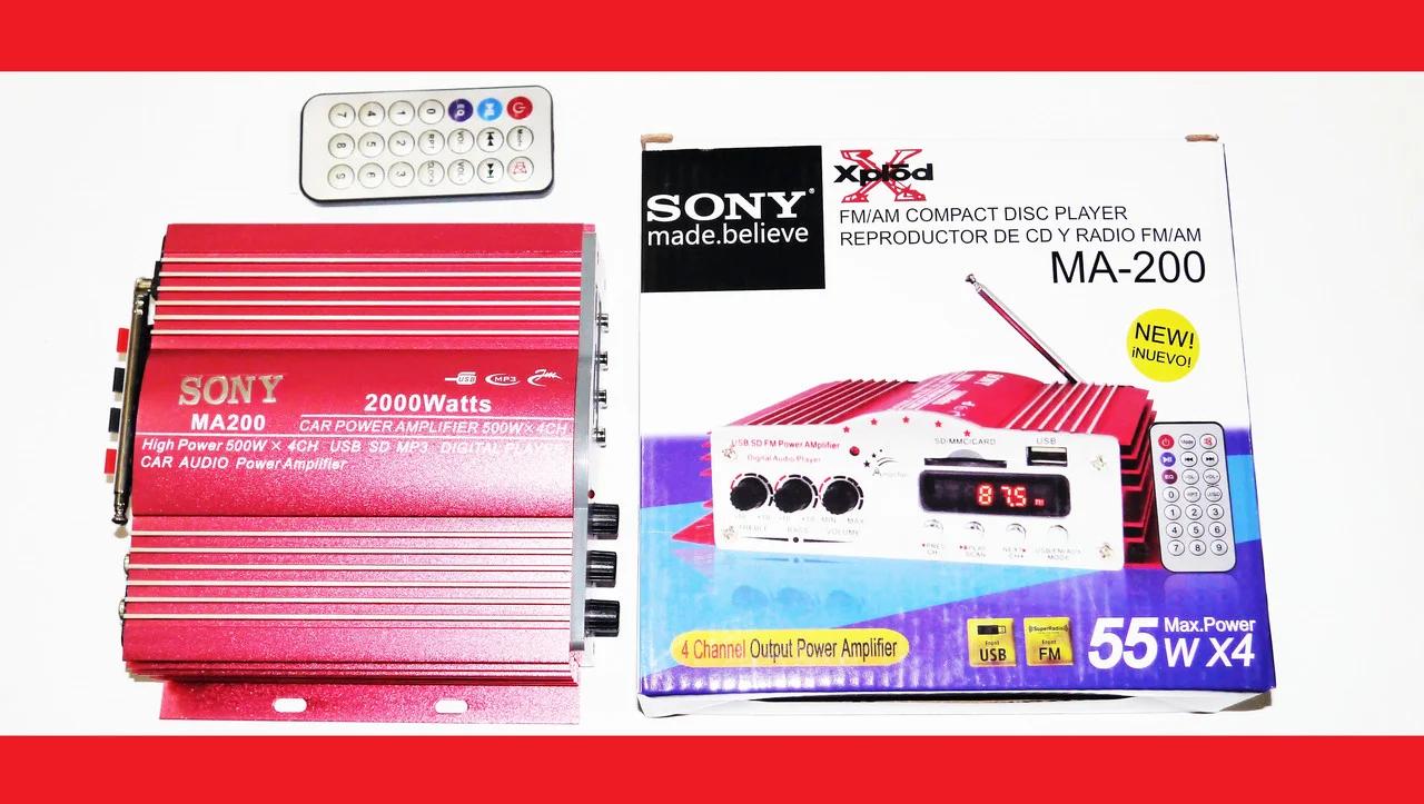 Sony MA-200 Усилитель звука USB + Mp3 4*55W