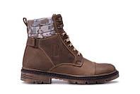 Мужские кожаные зимние ботинки Bastion  Olive, фото 1