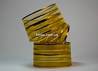 Золотая лента для бантов с красивым переливом (ширина 5 см)