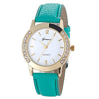 Женские часы Geneva Diamond бирюзовые