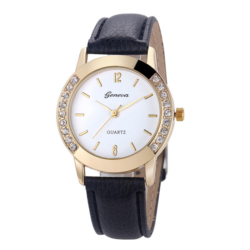 Женские часы Geneva Diamond черные