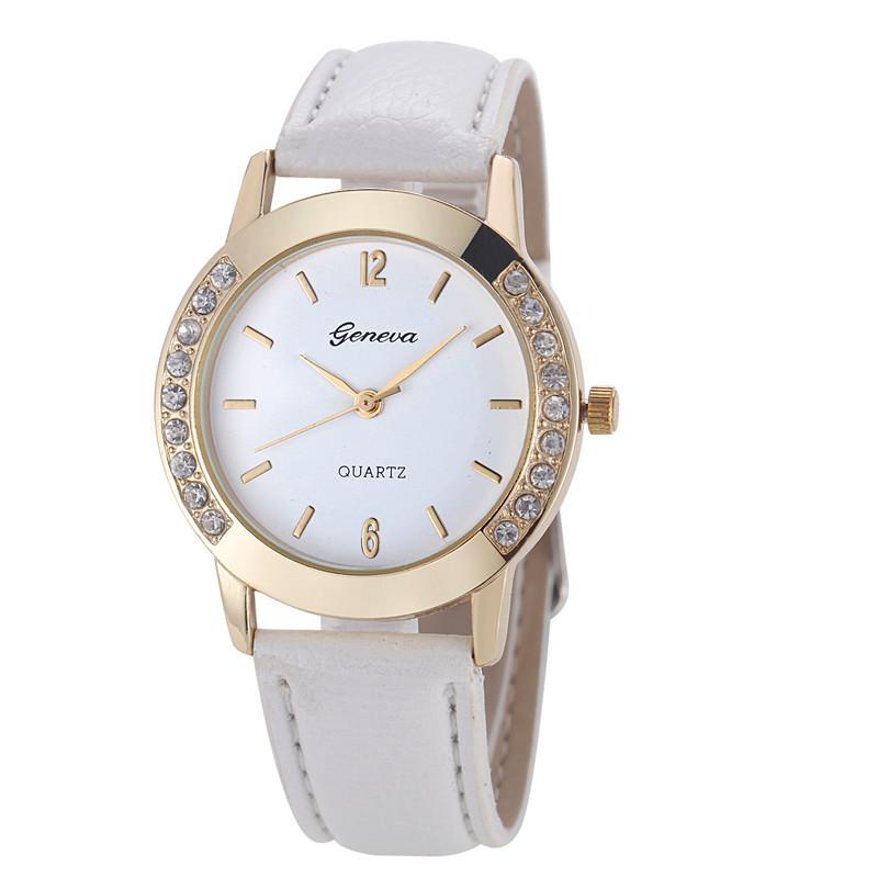 Женские часы Geneva Diamond белые