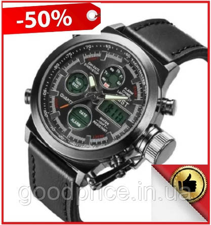 Мужские Наручные армейские часы AMST, кварцевые наручные мужские часы АМСТ