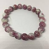 Турмалин розовый красивый браслет с розовым турмалином браслет натуральный турмалин Индия, фото 4