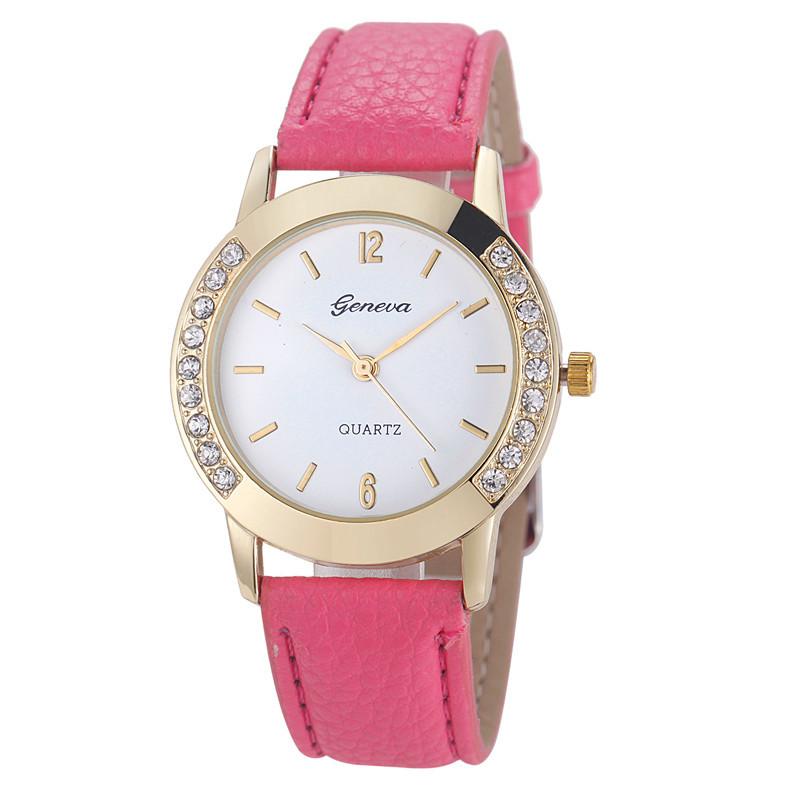 Женские часы Geneva Diamond розовые
