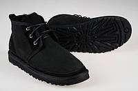 Зимние мужские ботинки угги Ugg Australia Neumel (Оригинал, угги неумел) замшевые черные