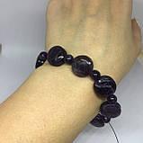Аметист браслет с камнем аметист браслет с аметистом на резинке Индия, фото 4