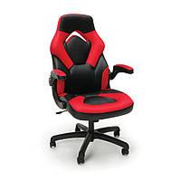 Кресло кожаное игровое геймерское для компьютера и офиса комфортное красное