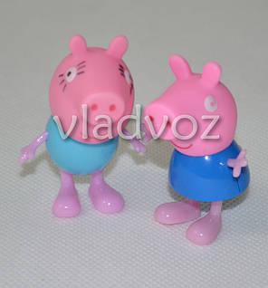 Свинка Пеппа и Мама игрушка резиновая и пластик, фото 2