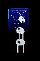 """Дизайн-радиатор """"Овечки-акробаты""""(синие)"""
