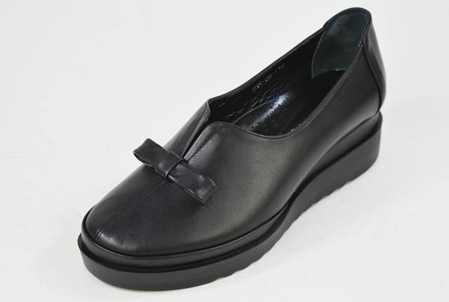Туфли на танкетке Evromoda 01906 черные кожа, фото 2