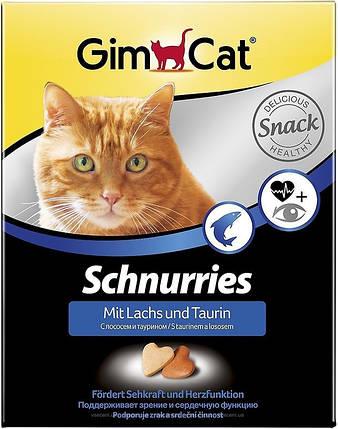 Сердечки Gimcat для кошек лосось, 650шт/420 г, фото 2