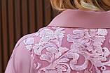 Женское платье свободного фасона костюмка сзади вышивка размер батал: 52-54, 56-58, 60-62, 64-66, фото 5