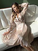 Елегантне плаття на запах з шовку армані, розмір XS-M