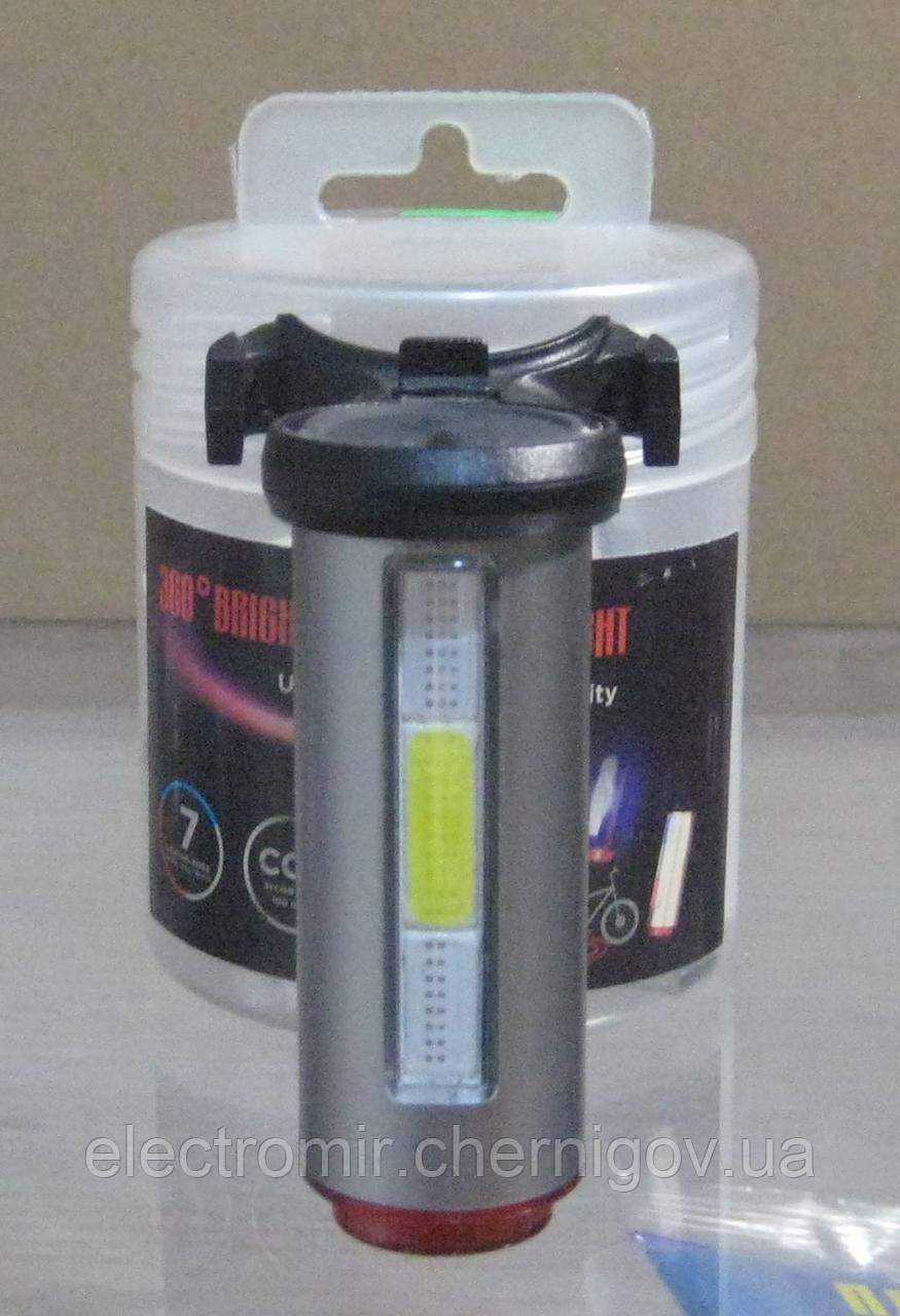 Стоп велосипедный 12 функций, micro USB зарядка (серый)