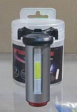 Стоп велосипедний 12 функцій, micro USB зарядка (сірий)