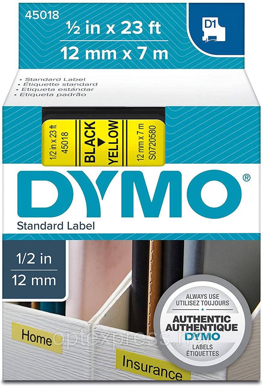 Картридж  S0720580 с пластиковой лентой системы D1 для  термопринтеров DYMO 12 мм х 7 м