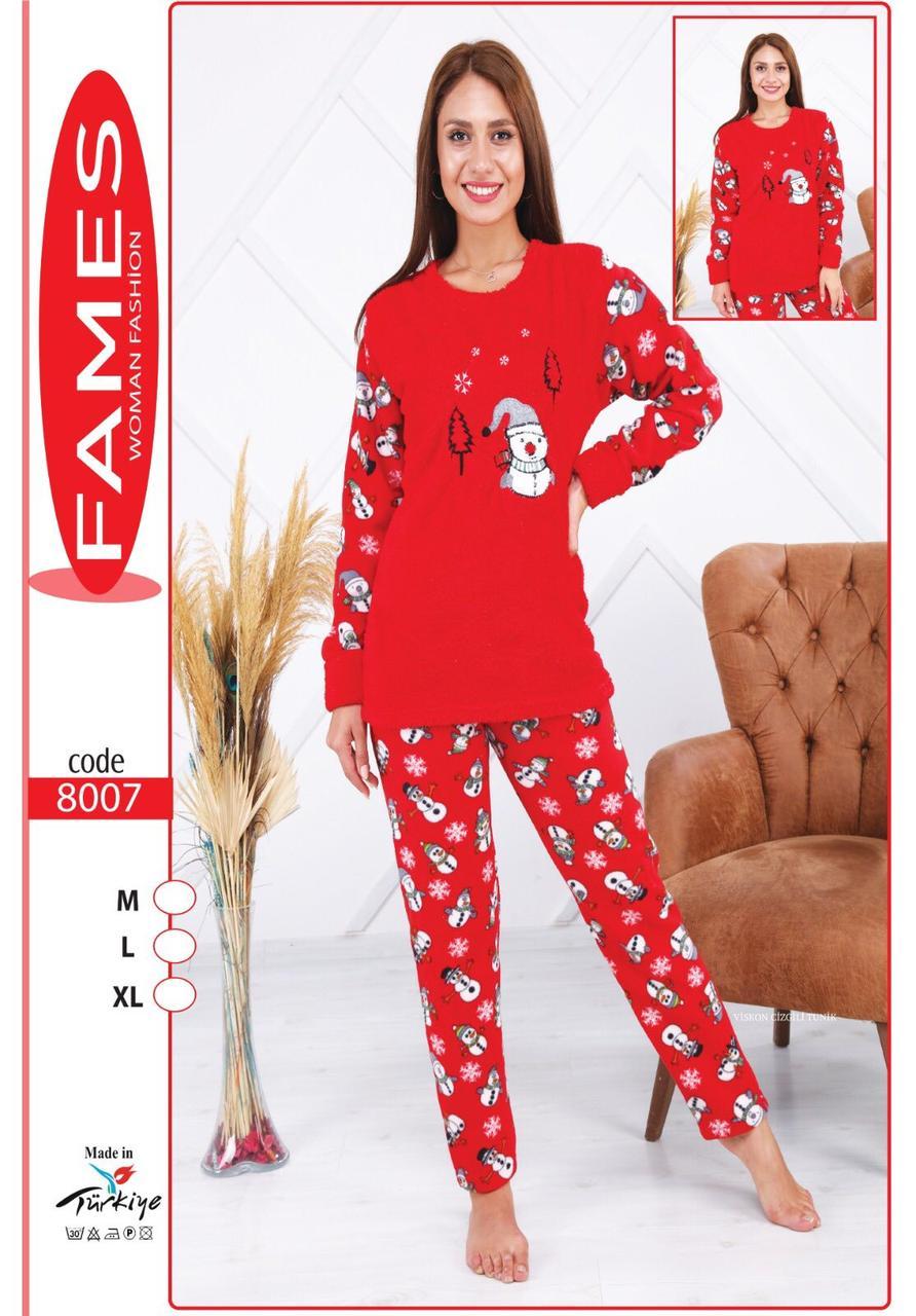 Пижама из махры и флиса cнеговик