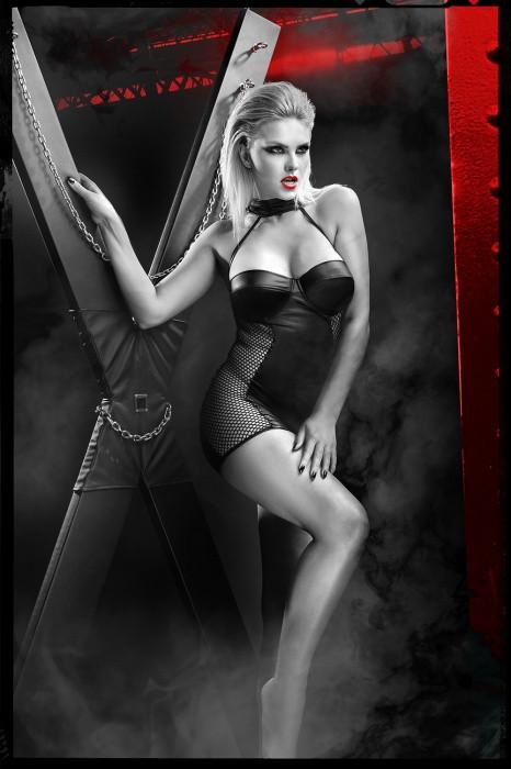 Эротическое платье-мини чёрное