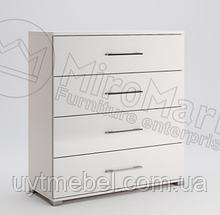 Комод Фемелі 4Ш глянець білий (Міромарк)