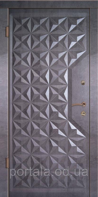 """Вхідні двері """"Портала"""" серія Тріо ― модель Граф 4 (Три контури)"""