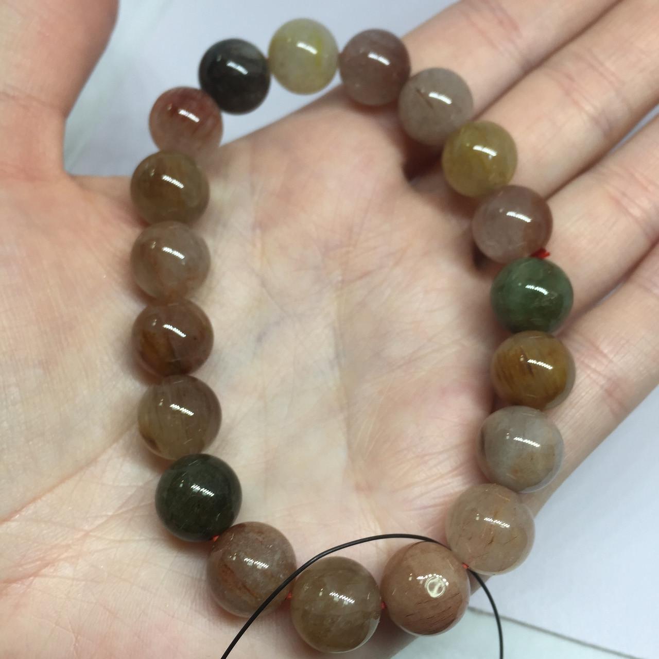 Кварц волосатик красивый браслет кварц браслет с кварцем браслет с кварцем  Индия