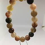 Кварц волосатик красивый браслет кварц браслет с кварцем браслет с кварцем  Индия, фото 6