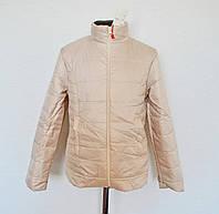 Детская куртка на девочку 5-8лет бежевого цвета, демисезонная
