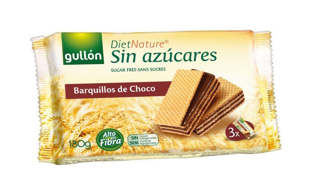 Вафлі GULLON без цукру Diet Nature з шоколадним кремом, 180 г, 12шт/ящ