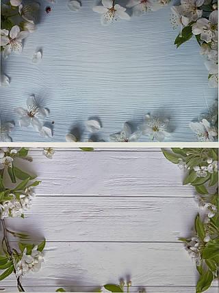 Двухсторонний 3D виниловый фон для фото. Влагостойкие анти-блик 57х87 см Студия фотофоны для предметной съемки, фото 2