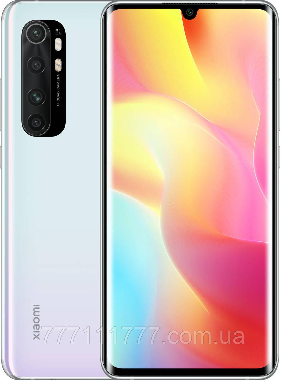 Смартфон ксиоми с большим экраном и хорошей батареей на 2 симки Xiaomi Mi Note 10 Lite 6/64 White ЕВРОПА