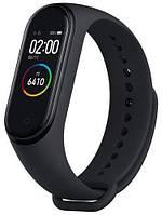 Фитнес-браслет черный, водонепроницаемый с пульсометром и шагомером Xiaomi Mi Band 4 black Китай