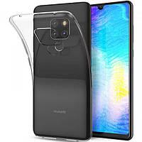 Чехол силиконовый для Huawei mate 20 ультратонкий прозрачный (хуавей мат 20)