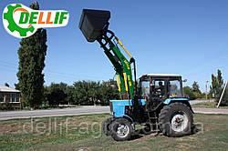 Навантажувач на трактор МТЗ ЮМЗ Т 40 Dellif Base 1600 з ковшем 1.8 м