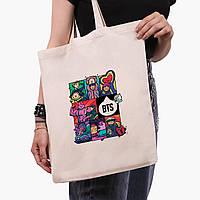 Эко сумка шоппер БТС (BTS) (9227-1078) экосумка шопер 41*35 см