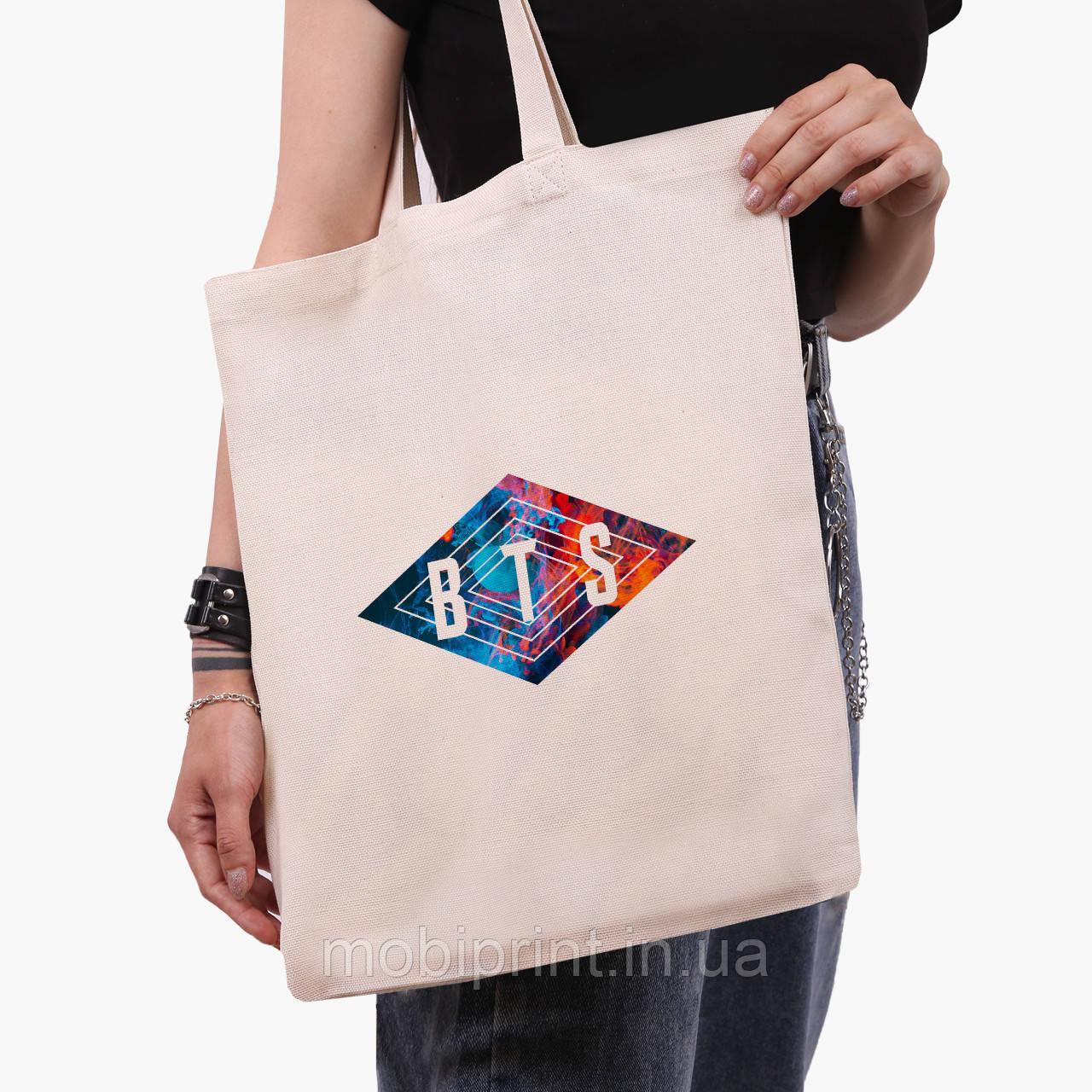 Еко сумка шоппер БТС (BTS) (9227-1062) екосумка шопер 41*35 см