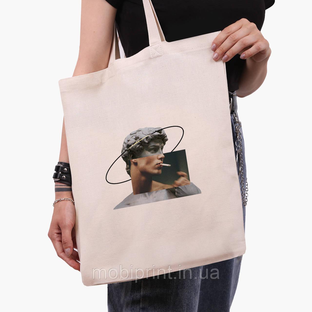 Эко сумка шоппер Давид Микеланджело - Ренессанс (David Michelangelo) (9227-1201)  экосумка шопер 41*35 см