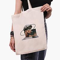 Эко сумка шоппер Давид Микеланджело - Ренессанс (David Michelangelo) (9227-1201)  экосумка шопер 41*35 см , фото 1